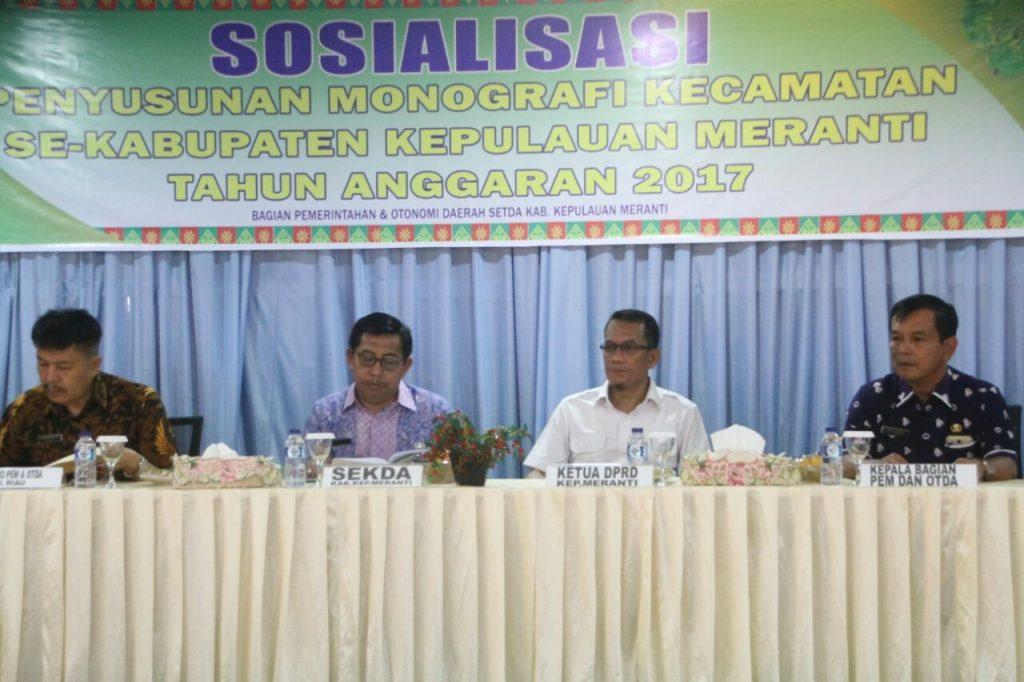 Pimpinan DPRD Meranti Sambut Baik Sosialisasi Penyusunan dan Pendayagunaan Data Profil Desa/Kelurahan