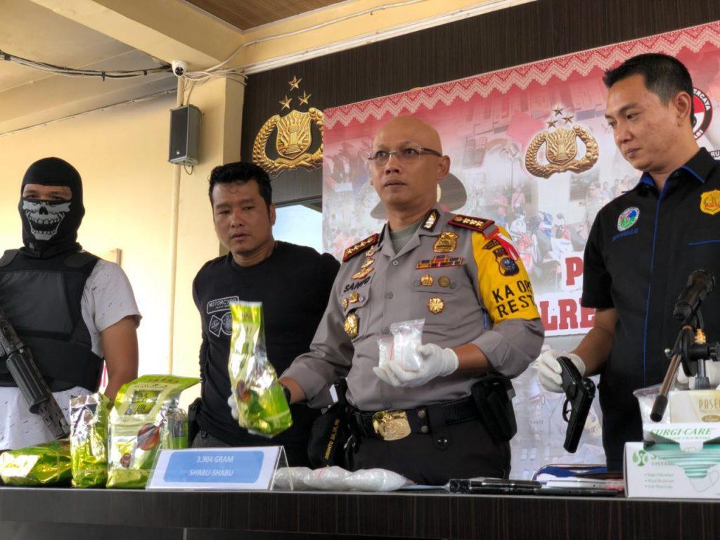 Polresta Pekanbaru Gelar  Press Conference,Ungkap Peredaran Narkoba Februari 2018
