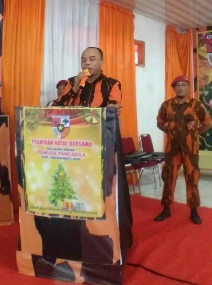 Hadiri Perayaan Natal Pemuda Pancasila, H Andi Suhaimi ;  Jadilah Setetes Sirup yang bisa Warnai Segentong Air