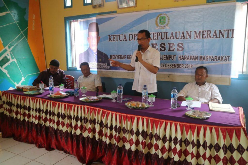 Serap Aspirasi Masyarakat,Ketua DPRD Meranti Gelar Reses