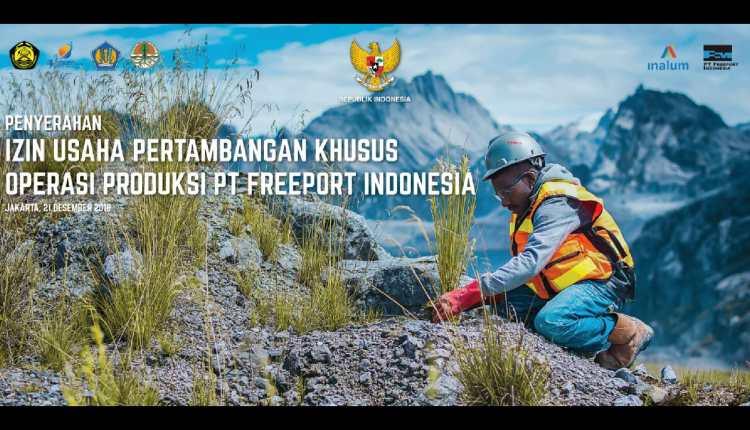 Divestasi Saham Freeport Telah Usai Menjadi IUPK,Pemprov Papua Dapat Saham 10 Persen