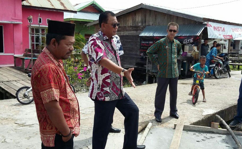 Bupati Rohil,H.Suyatno,Bersama TP4D Kunker di Kecamatan Sinaboi