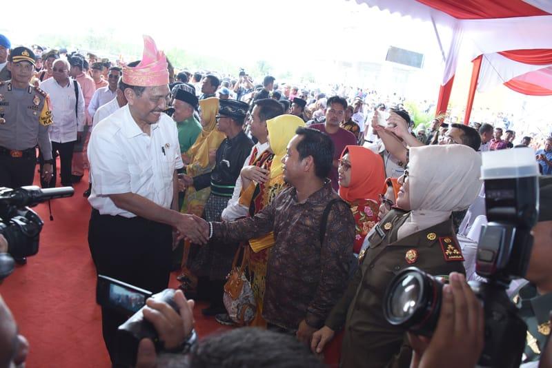 Menko Maritim,Jenderal TNI (Purn) Luhut Binsar Panjaitan Kunker ke Pelalawan