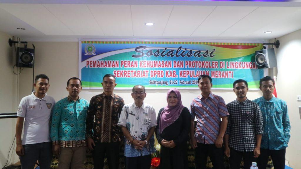 Setwan DPRD Meranti Gelar Sosialisasi Pemahaman Peran Kehumasan dan Protokoler