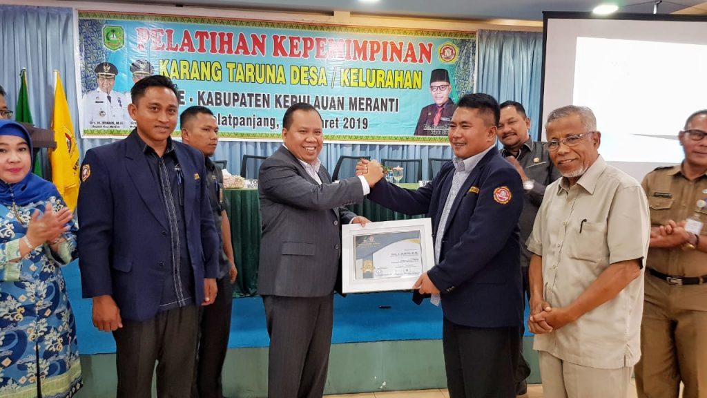 Bupati Meranti,H.Irwan,Buka Seminar Kepemimpinan Kader Karang Taruna Meranti
