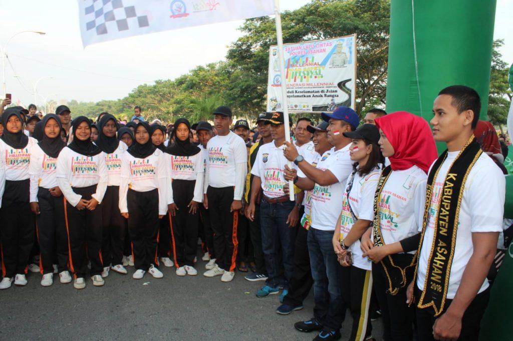 Ribuan Masyarakat Kabupaten Asahan Meriahkan Millenial Road Safety Festival 2019