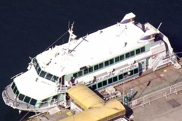 Kapal Feri Jepang Tabrak Ikan Paus,Puluhan Penumpang Terluka