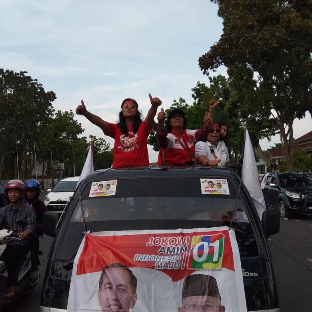 Relawan Kerja 01 Riau Kampanye Jokowi-Ma'ruf Amin Gelar Raod Show dan Nonton Bareng di Pekanbaru