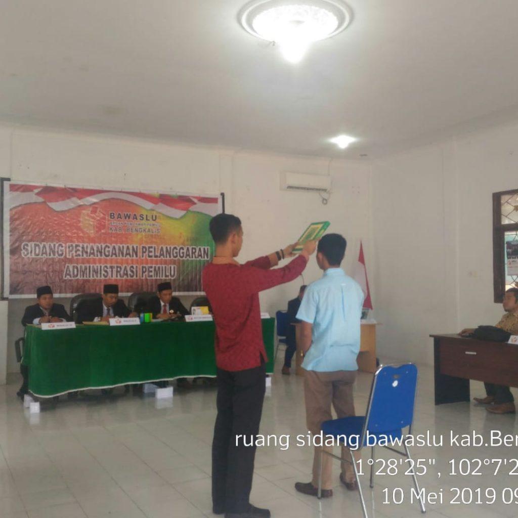 Komisioner Bawaslu Jadikan Alat Bukti Persidangan dugaan Terkait 20 TPS di Desa Wonosari