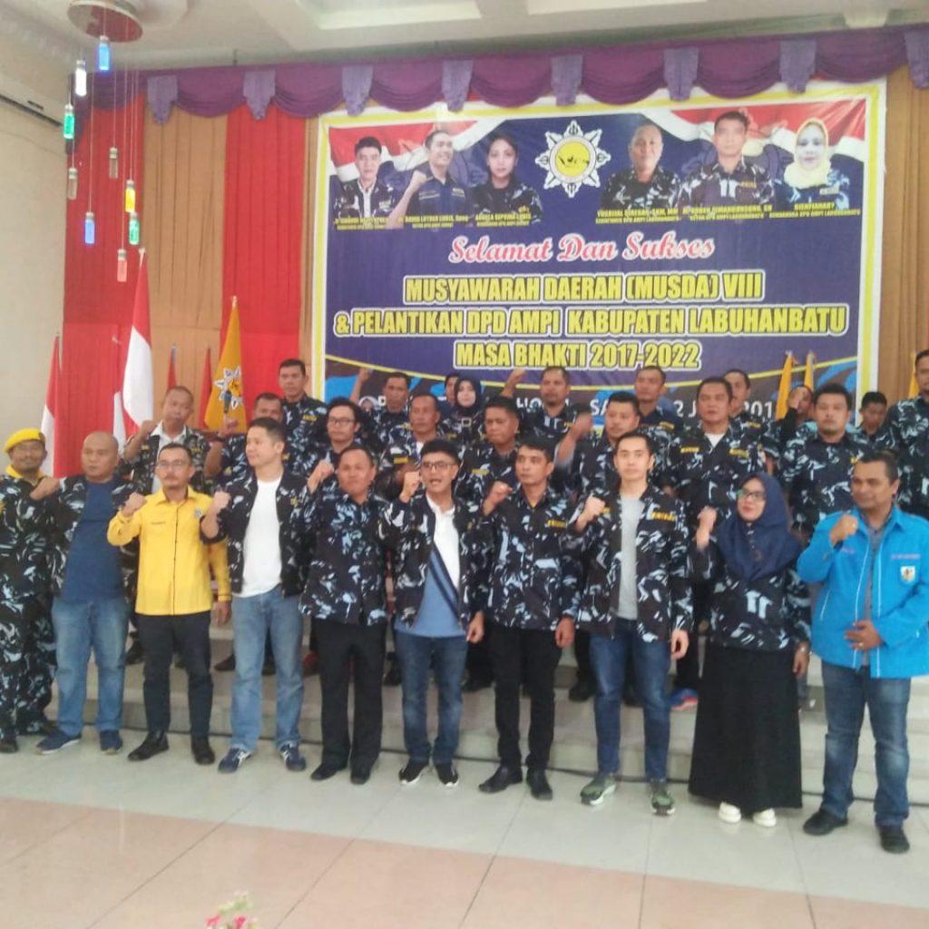 Ketua DPD AMPG Hadiri Pelantikan DPD AMPI Labuhanbatu
