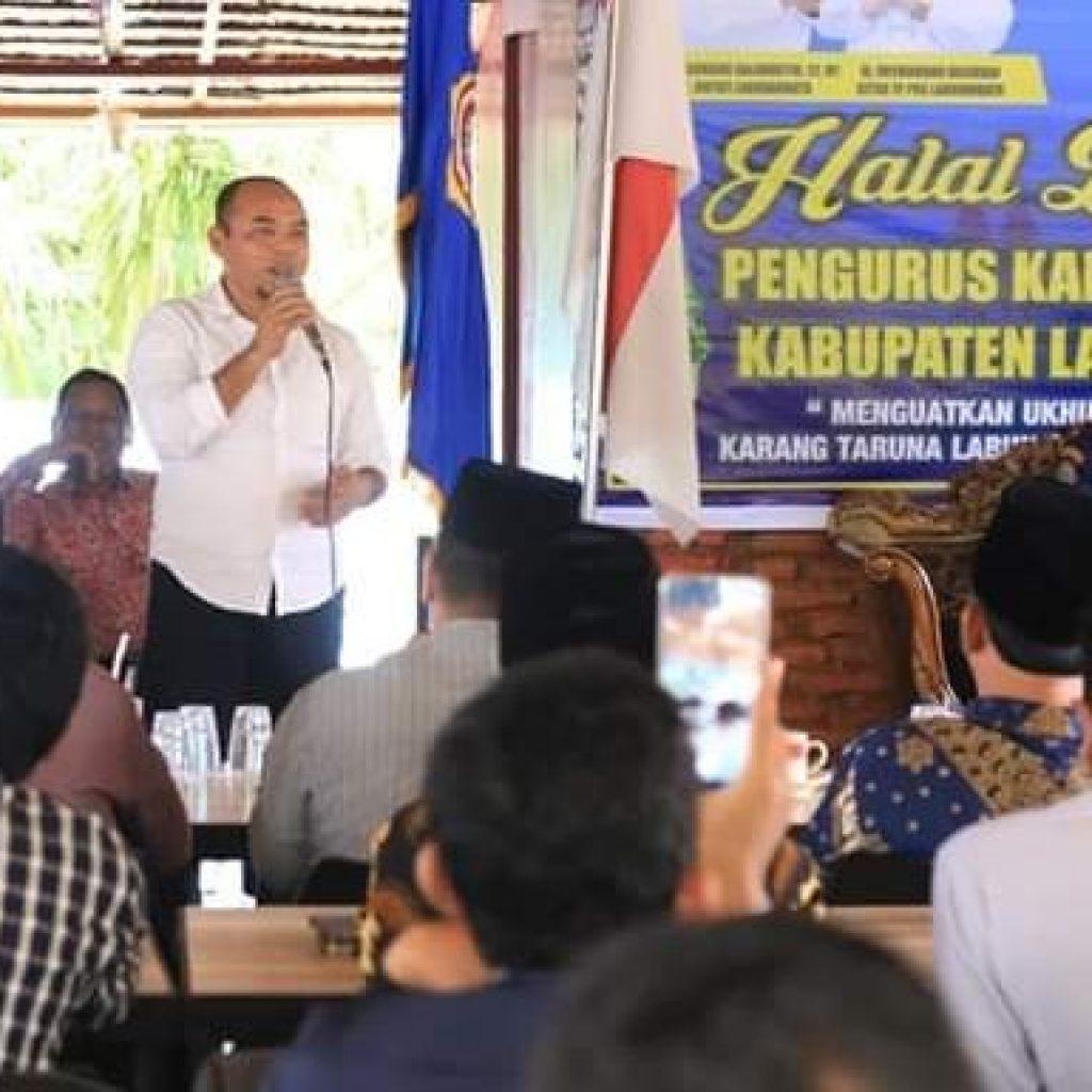 Plt. Bupati Labuhanbatu Hadiri Acara Halal Bihalal Karang Taruna Dan Melakukan Diskusi