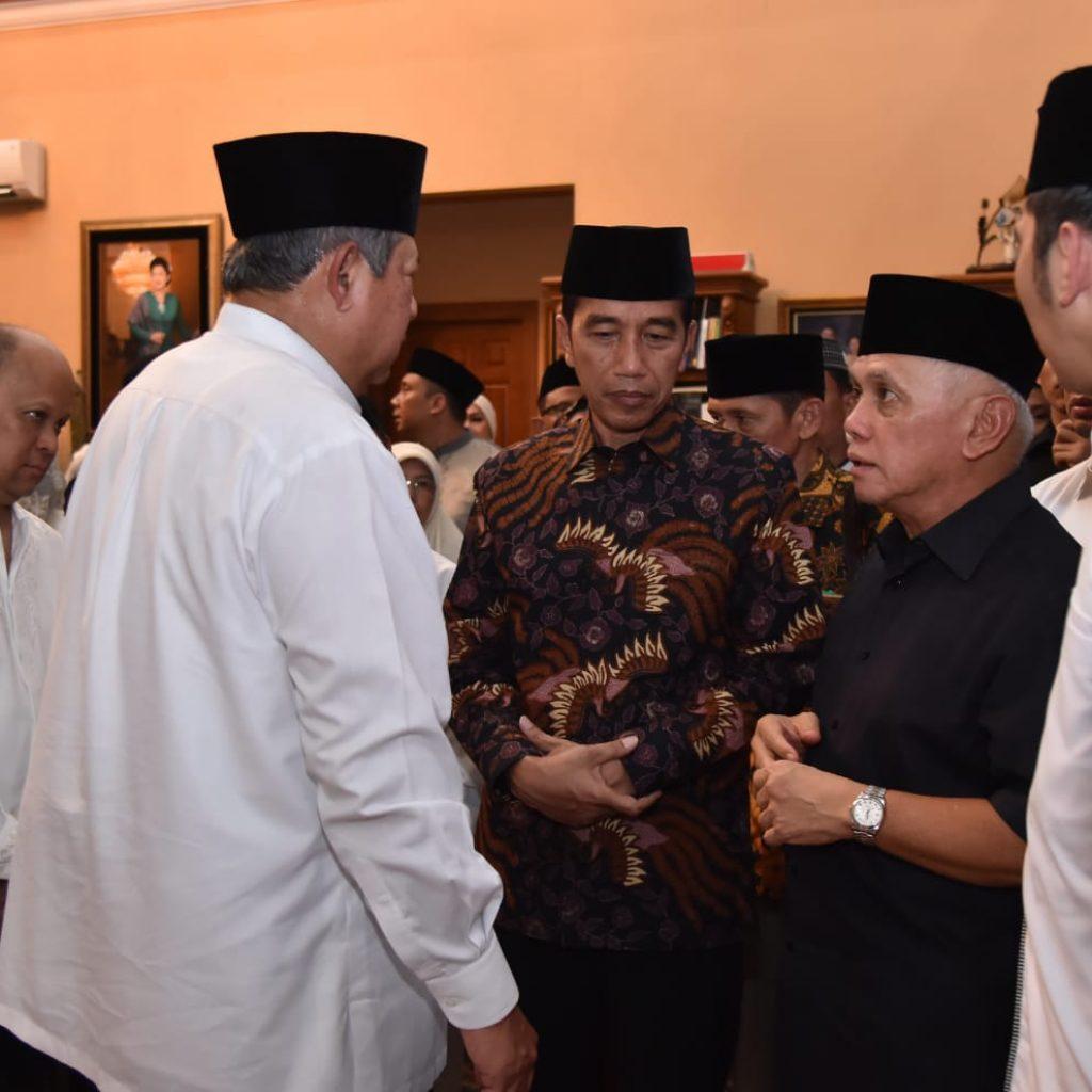 Presiden Jokowi dan Ibu Iriana Melayat Almarhumah Ibu Ani Yudhoyono