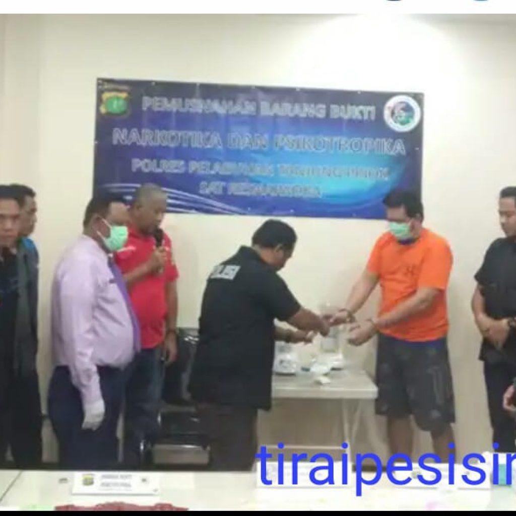 Polres Pelabuhan Tanjung Priok Musnahkan 1,4 Kg Sabu