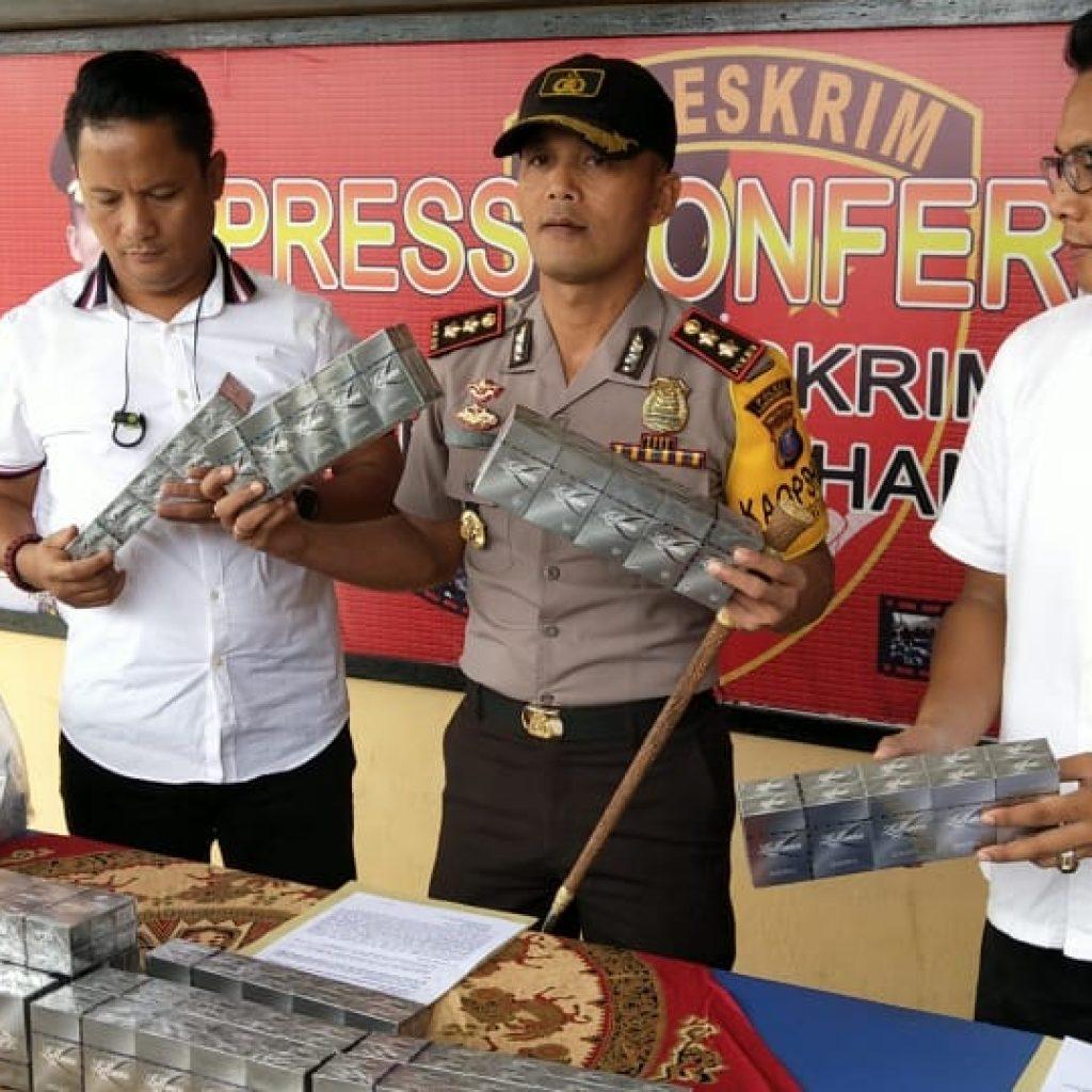 Team Reskrim Polres Labuhanbatu Berhasil Amankan 158 Kotak Rokok Luffman Tanpa Cukai