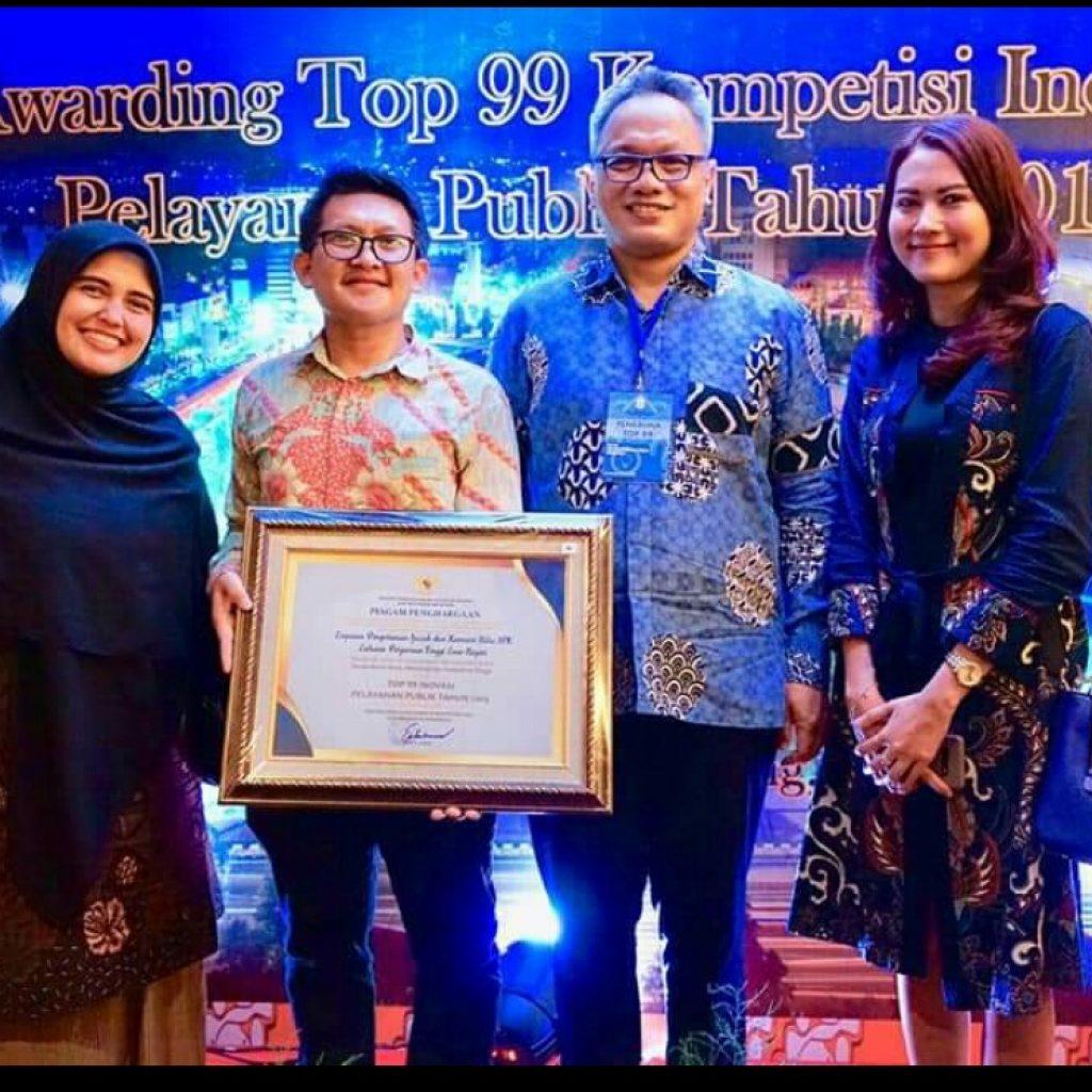 Kemenristekdikti Raih Penghargaan Top 99 Inovasi Pelayanan Publik Tahun 2019