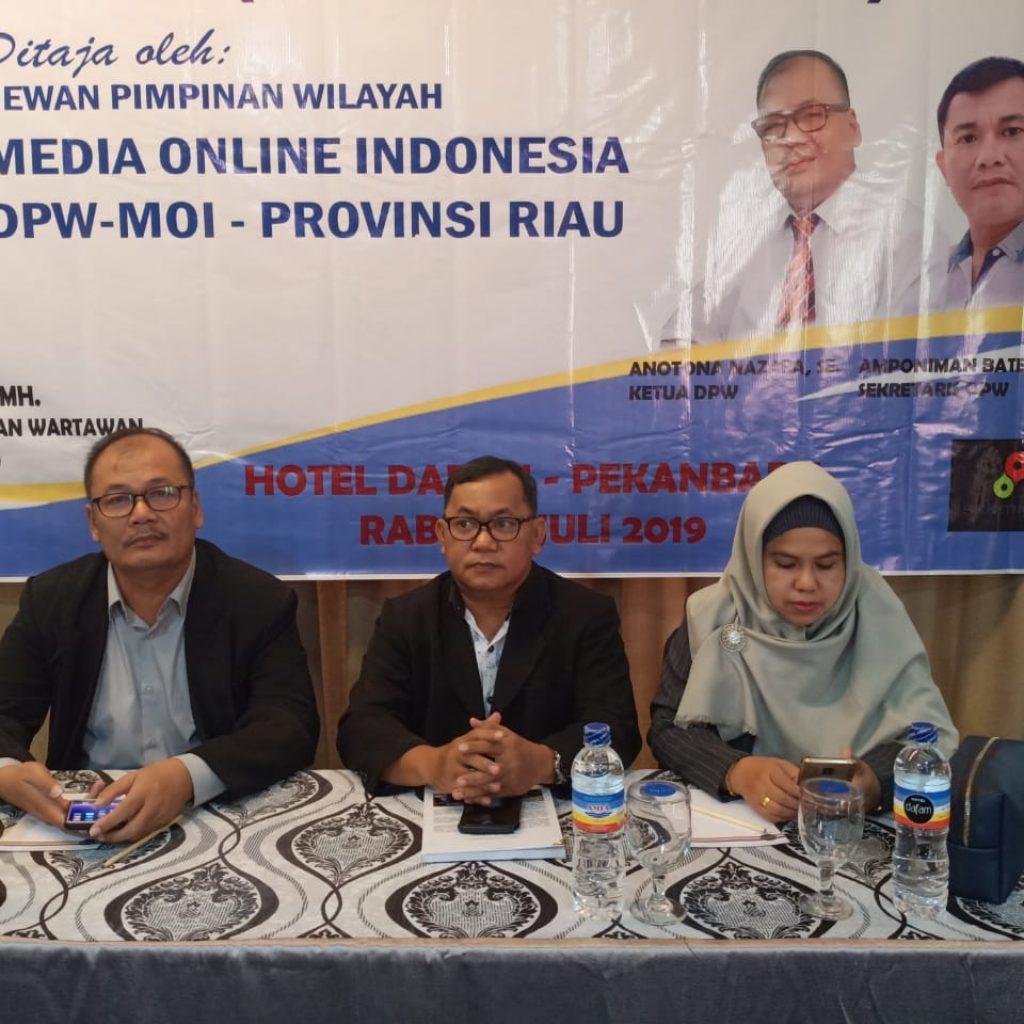 DPW MOI Riau Menggelar Bimtek UKW