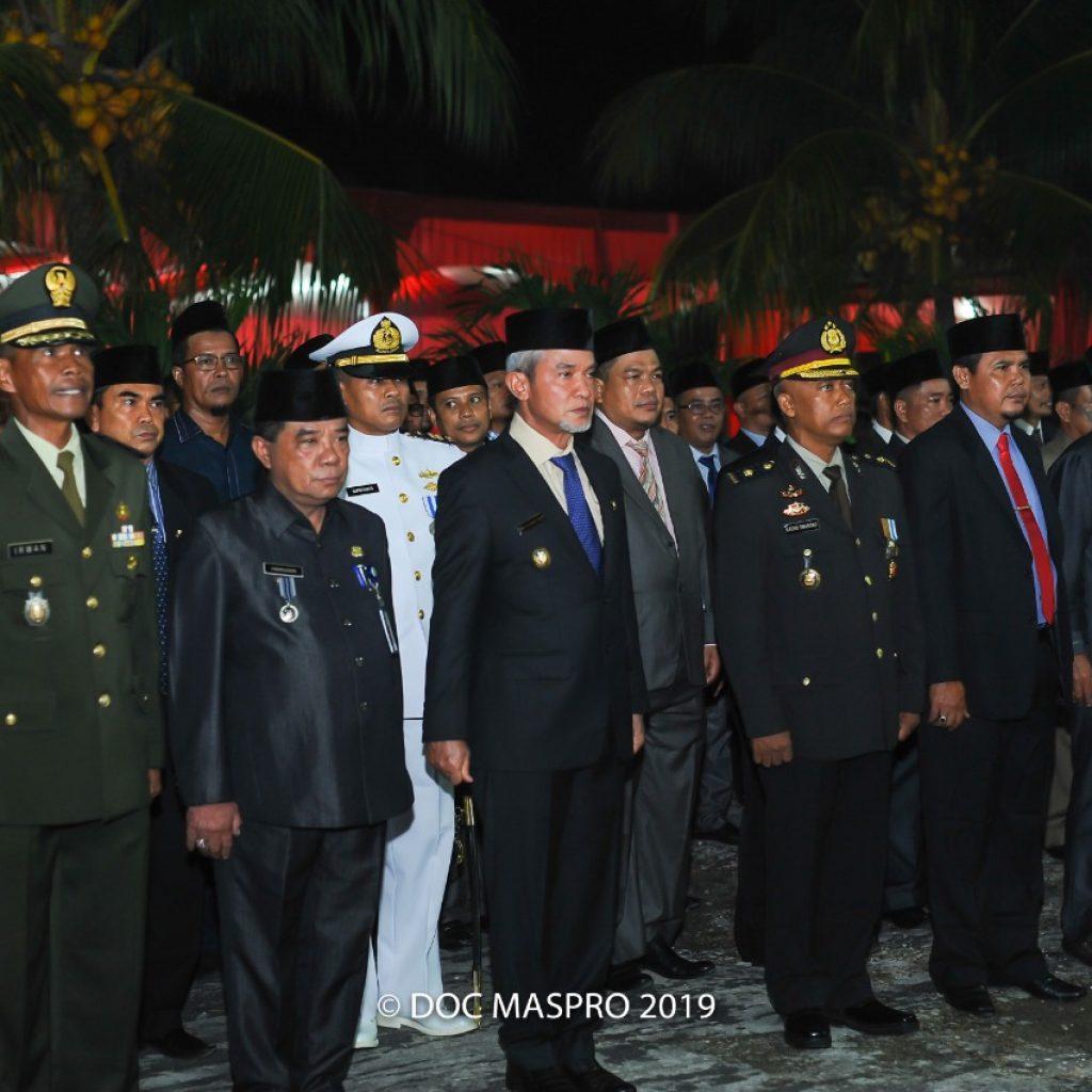 Wabup Meranti,H.Said Hasyim Irup Renungan Suci HUT RI Ke-74 Tahun 2019