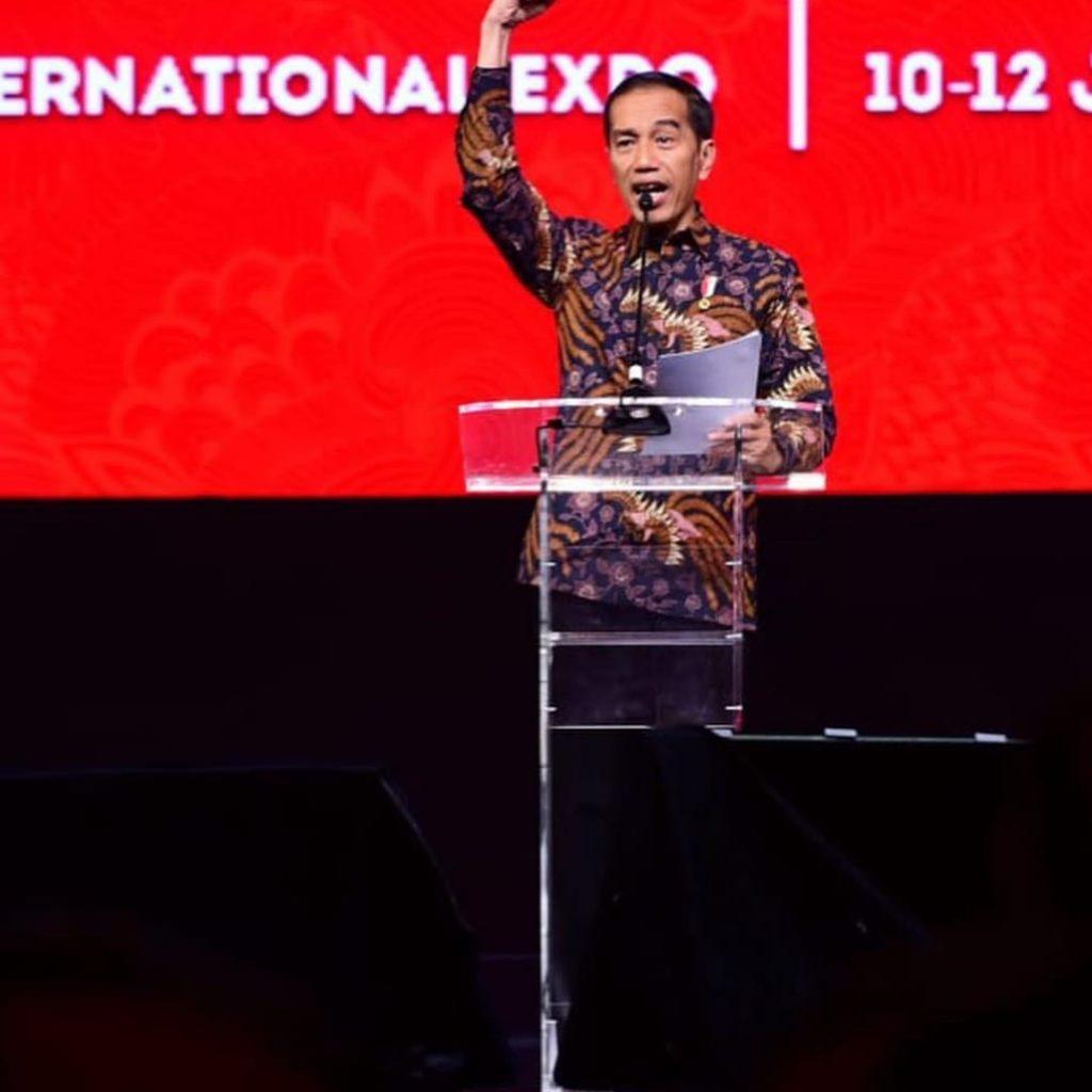 Presiden Joko Widodo Meresmikan Pembukaan Rakernas I Partai PDIP di Jakarta International
