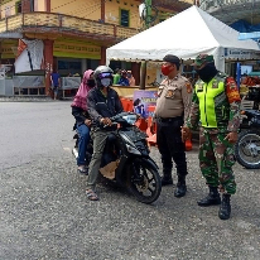 TNI-POLRI Laksanakan Pendisiplinan Produktif Aman Covid-19 di Selatpanjang Kota