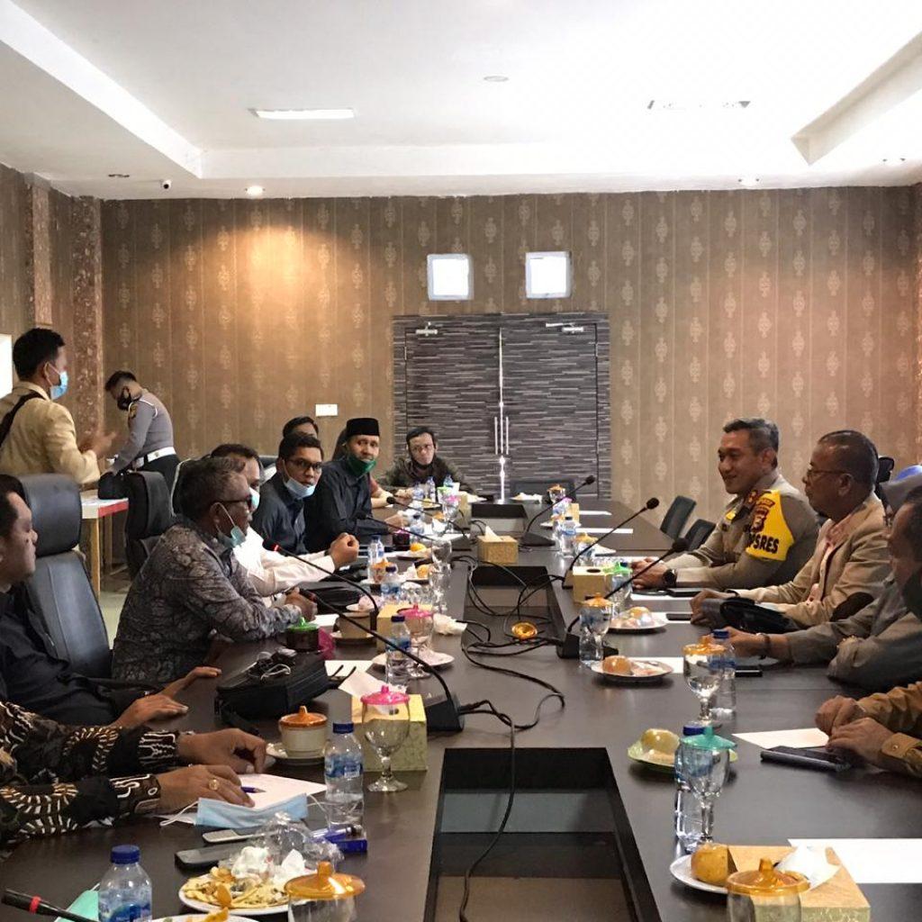 Silaturahmi Dengan DPRD, Kapolres Meranti : Kami Akan Mengungkapkan Kasus Yang Lebih Besar