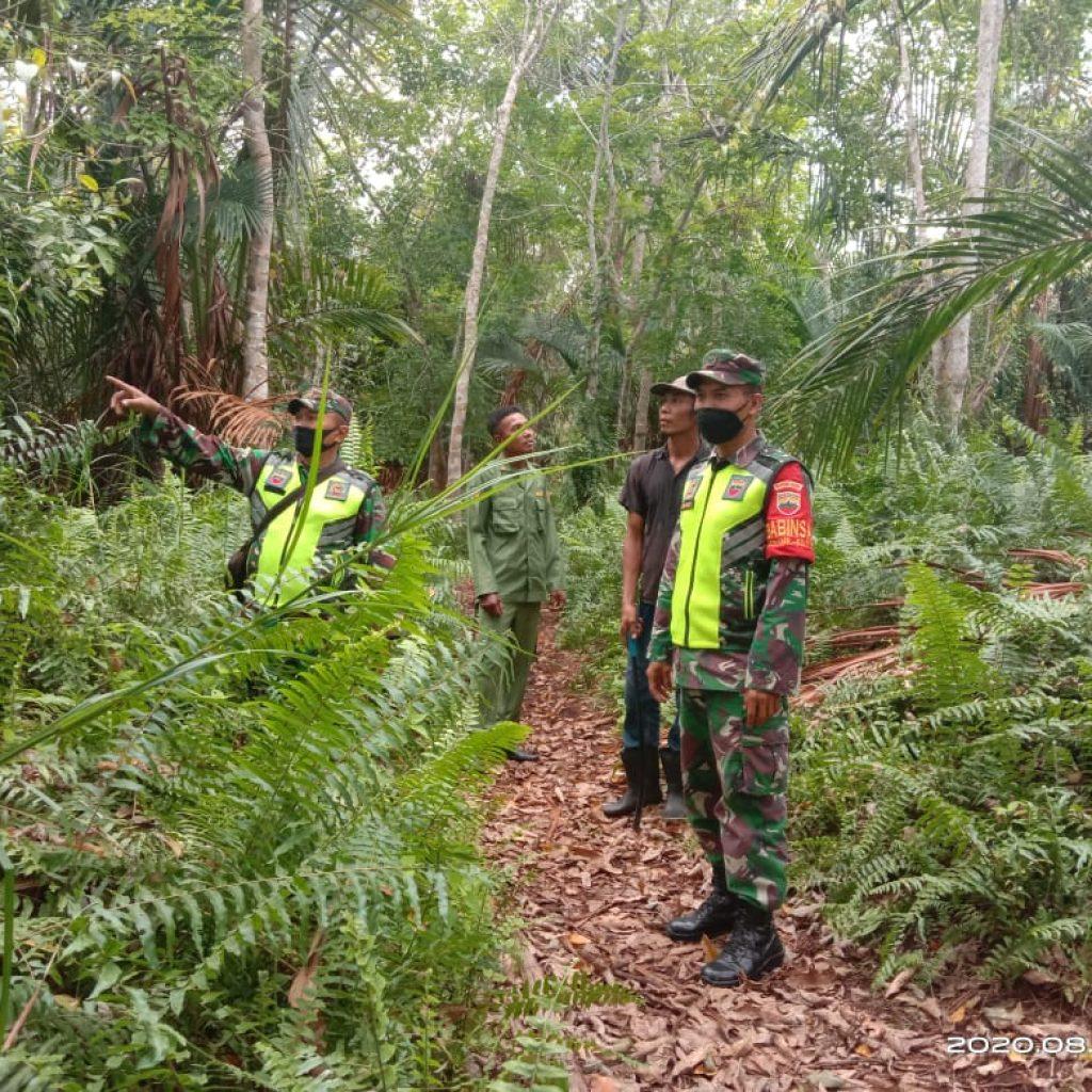 Cegah Karhutla, Babinsa Koramil 02 Tebing Tinggi Laksanakan Patroli Rutin dan Sosialisasi di Desa Binaan