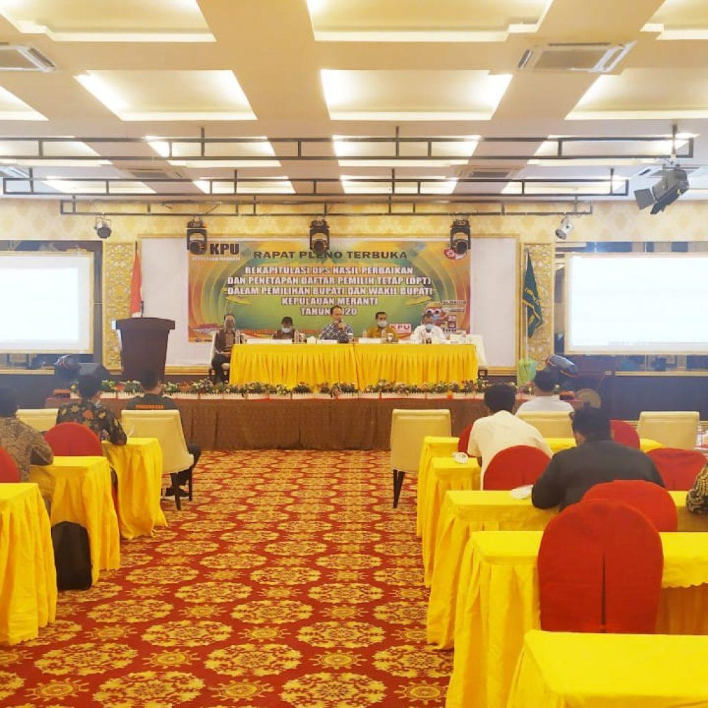 Rapat Pleno Terbuka, Ini Hasil Rekapitulasi DPSHP dan Penetapan DPT KPU Kepulauan Meranti
