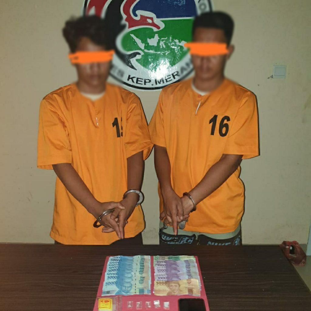 Polisi Tangkap 2 Pengedar Sabu di Selatpanjang