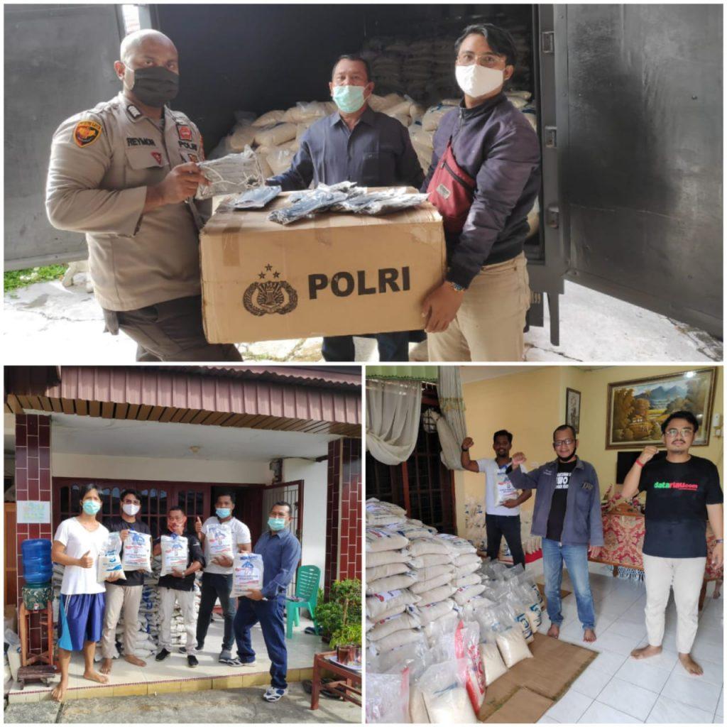 Lawan Pandemi Covid-19, Polda Riau Bantu 3 Ton Beras ke IWO Untuk Didistribusikan ke Masyarakat