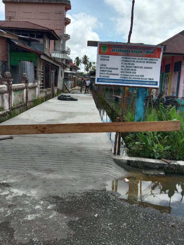 5 Tahun Dinanti, Jalan Gang Moerdani Kelurahan Bagan Timur Bangko Rohil Sudah Mulus