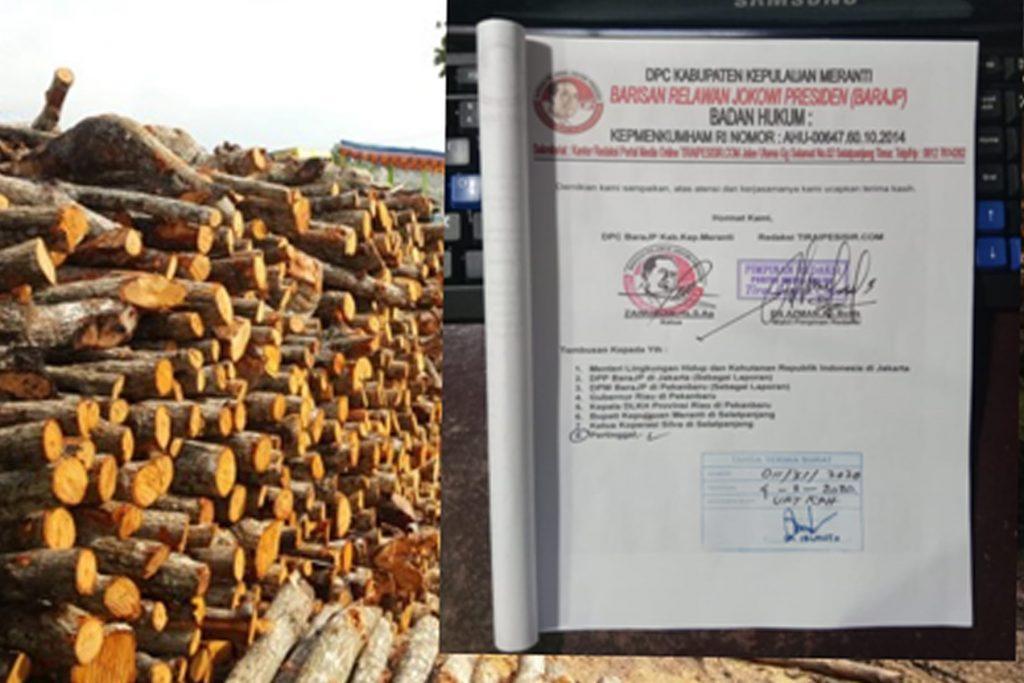 LSM BaraJP Meranti Surati KPH Minta Dapur Arang Koperasi Silva Ditutup