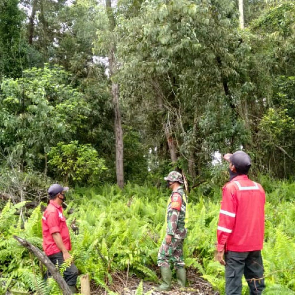 Babinsa Koramil 02/Tebing Tinggi Laksanakan Patroli Karhutla