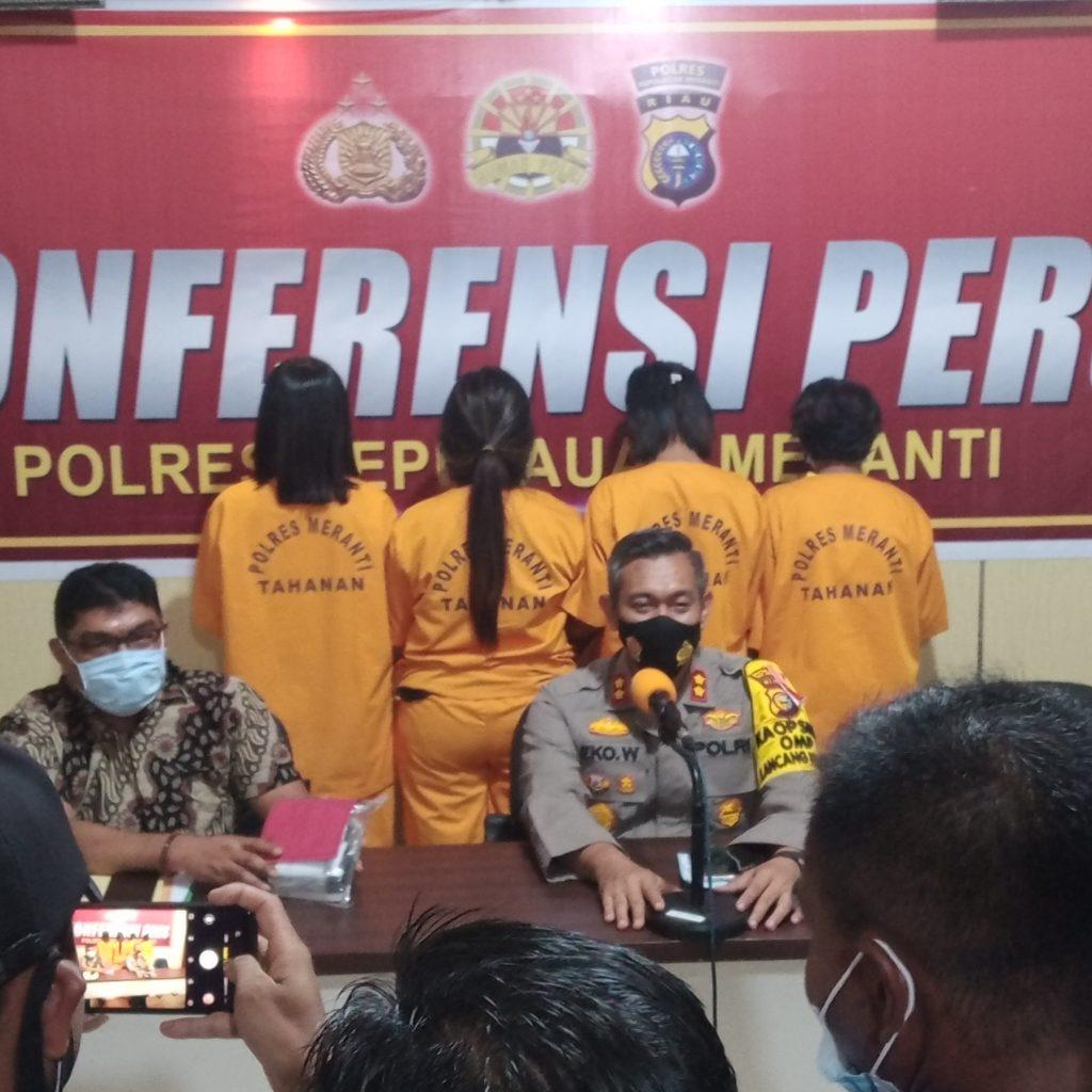 Empat Ibu Rumah Tangga di Meranti Digulung Polisi, Dua Diantaranya Istri Pelaku Utama