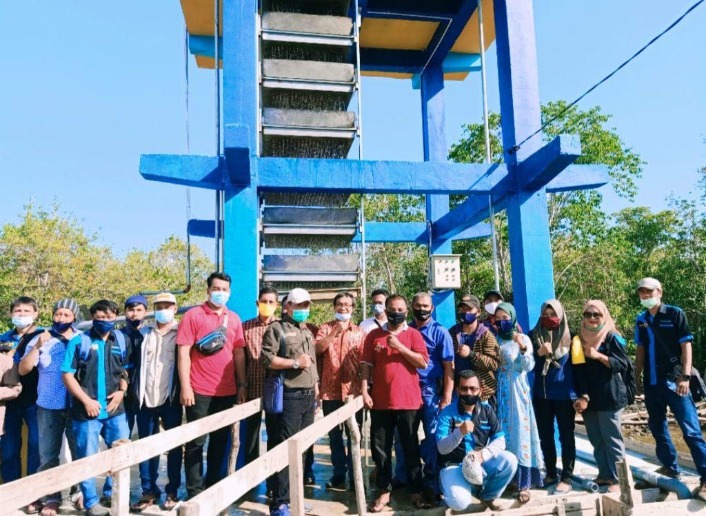 PUPR Meranti Uji fungsi Pamsimas di Desa Banglas