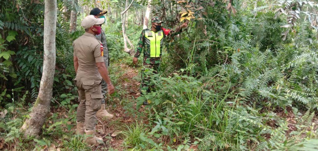 Babinsa Bersama Satpol-PP Laksanakan Patroli Karhutla di Desa Segomeng