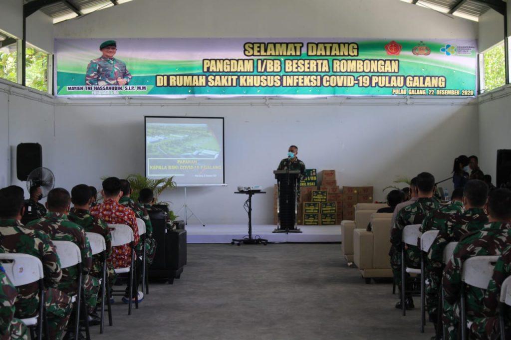 Kunjungan Pangdam I/BB di RSKI Covid-19 Pulau Galang