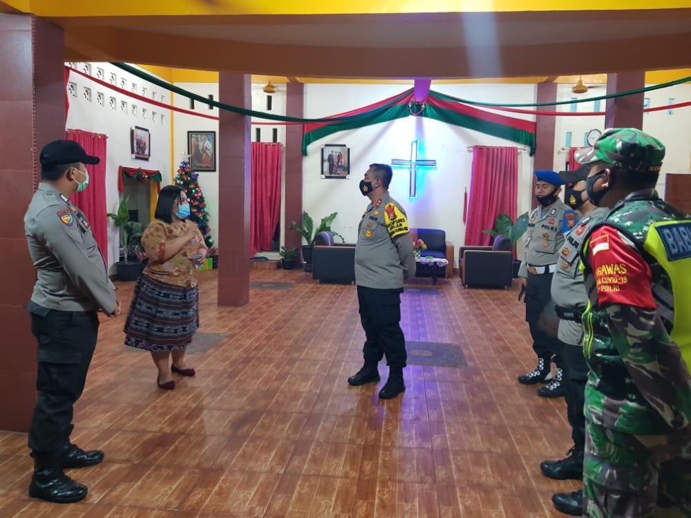 Polisi Jaga 7 Gereja di Meranti, Pastikan Ibadah Natal Terapkan Prokes