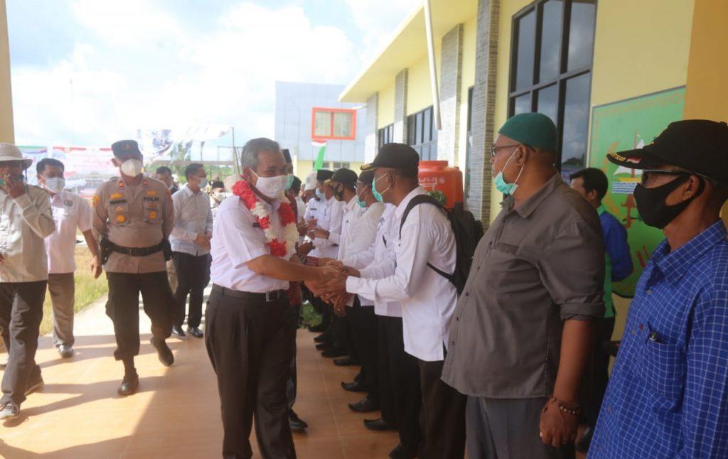 Sekda Meranti Pimpin Musyawarah Desa Pembentukan BUMDes Pulau Merbau