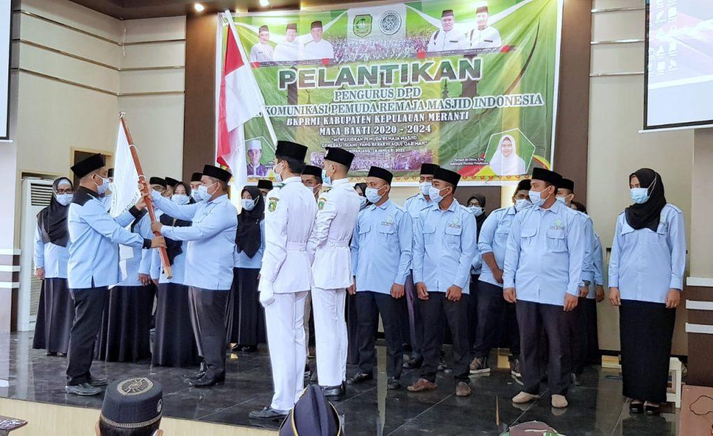 Sekda Kamsol Hadiri Pelantikan Pengurus DPD BKPRMI Meranti 2021-2024