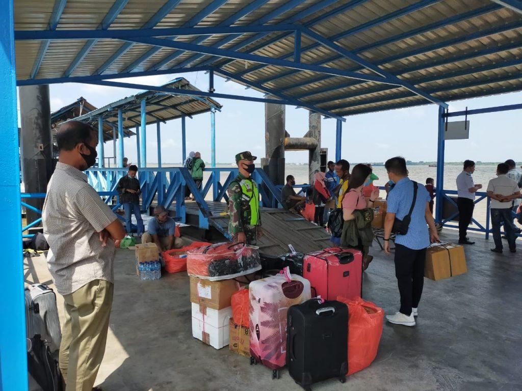 Cegah Covid-19, Babina Laksanakan Pendisiplinan dan Sosialisasi di Pelabuhan Tanjung Harapan