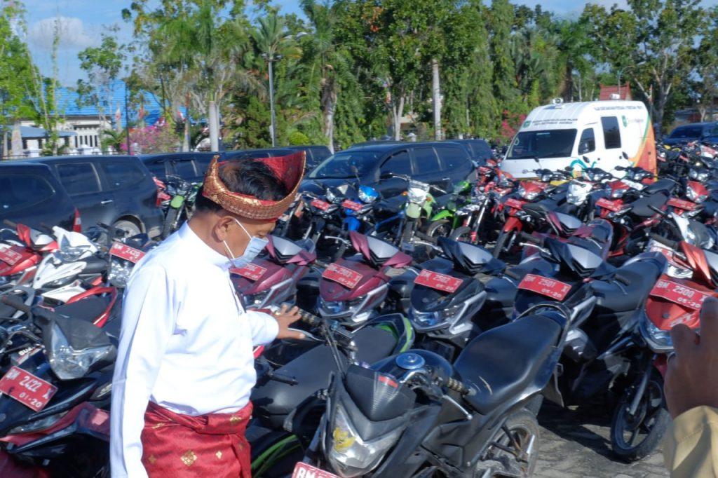 Wakil Bupati H. Asmar Lakukan Inspeksi Kendaraan Dinas Dalam Rangka Inventarisasi Barang Milik Daerah