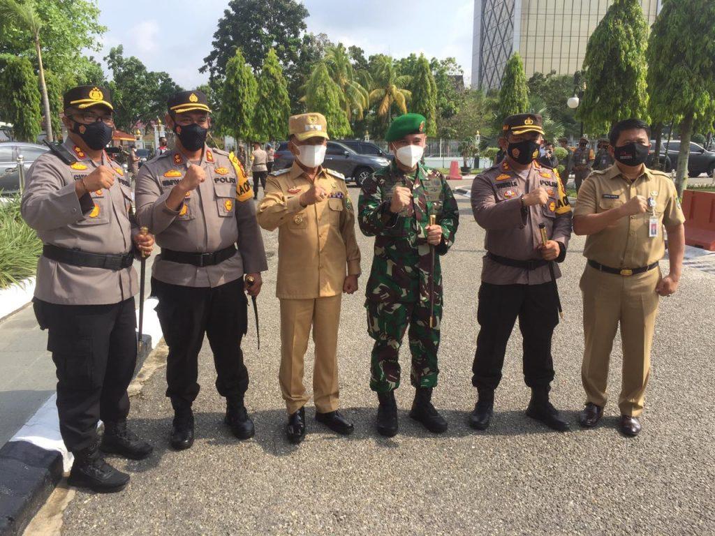 Wabup H. Asmar Ikuti Rakor Penanggulangan Karhutla Bersama Gubernur Riau