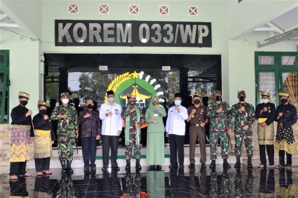 Danlantamal IV Sambut Pangdam I/BB di Makorem 033/WP