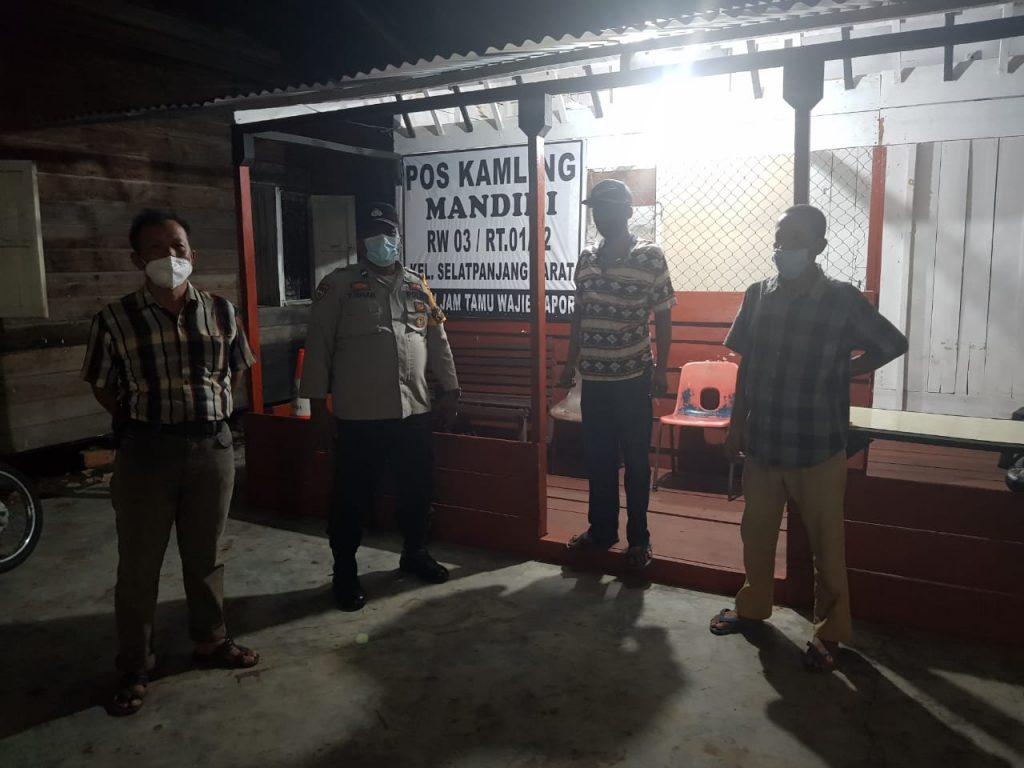 Jelang Ramadhan, Polsek Tebingtinggi Cek Pengaktifan Pos Kamling