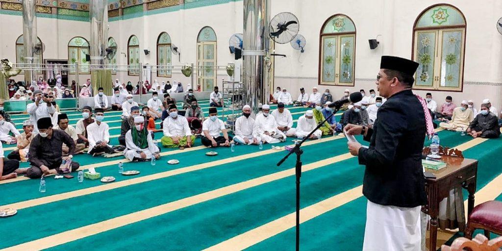 Bupati dan Wakil Bupati Meranti Ikuti Acara Isra'Miraj Nabi Muhammad SAW 1442 H