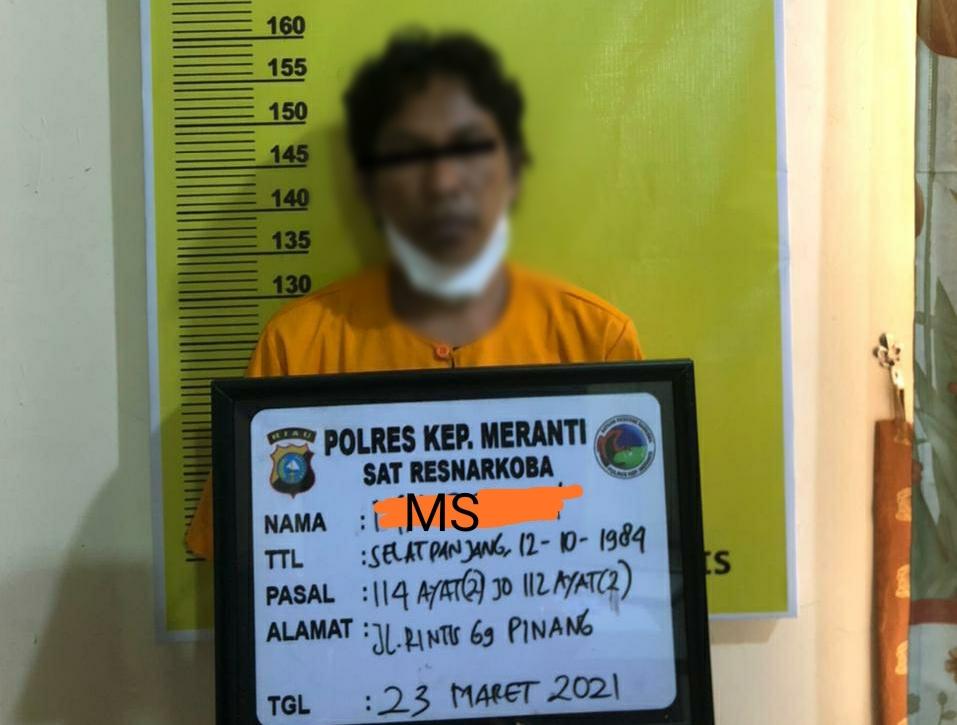 Sedang Meracik Sabu, Ms Ditangkap Reserse Narkoba Polres Meranti