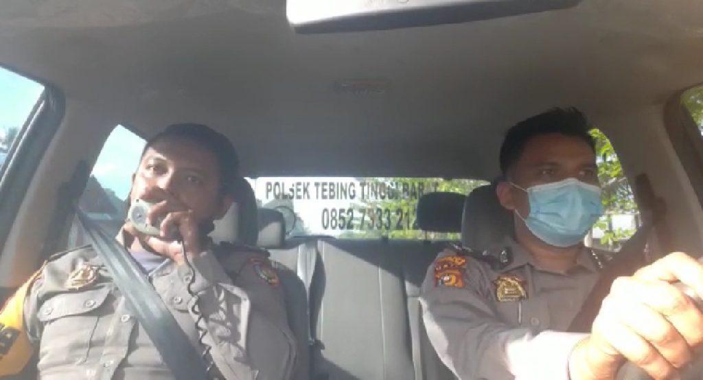 Polisi di Tebingtinggi Barat Ajak Masyarakat Disiplin Prokes