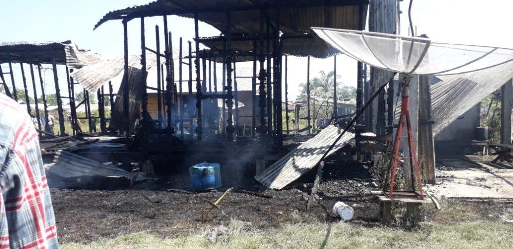 Satu Unit Rumah di Merbau Kepulauan Meranti Hangus Terbakar
