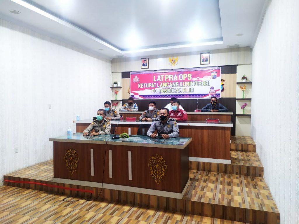 Polres Rokan Hilir Gelar Latihan Lat Pra Ops Lancang Kuning 2021