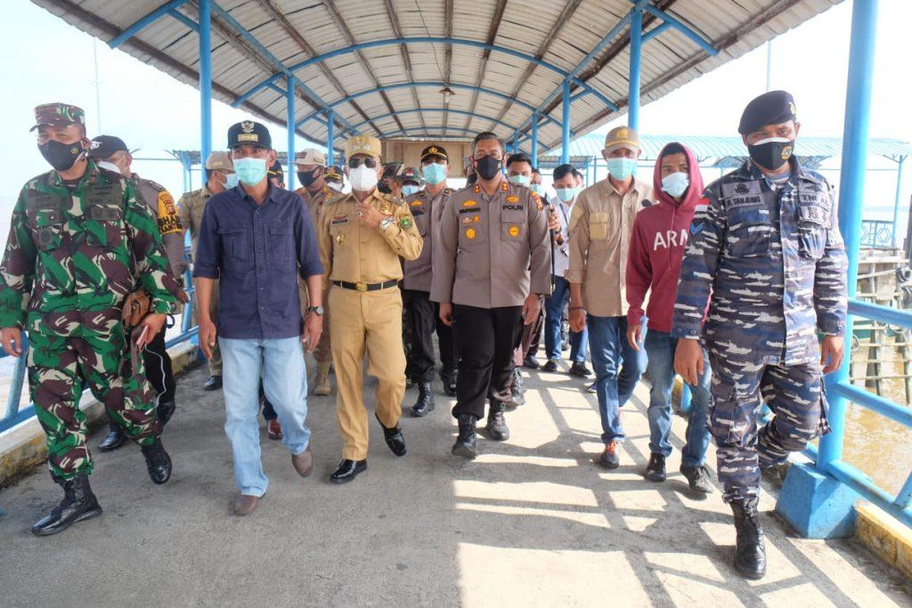Akses Laut Dibuka, Wabup dan Kapolres Tinjau Kesiapan PPKM Mikro di Tanjung Samak