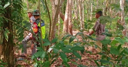 Babinsa Terus Laksanakan Patroli Karhutla di Desa Binaan